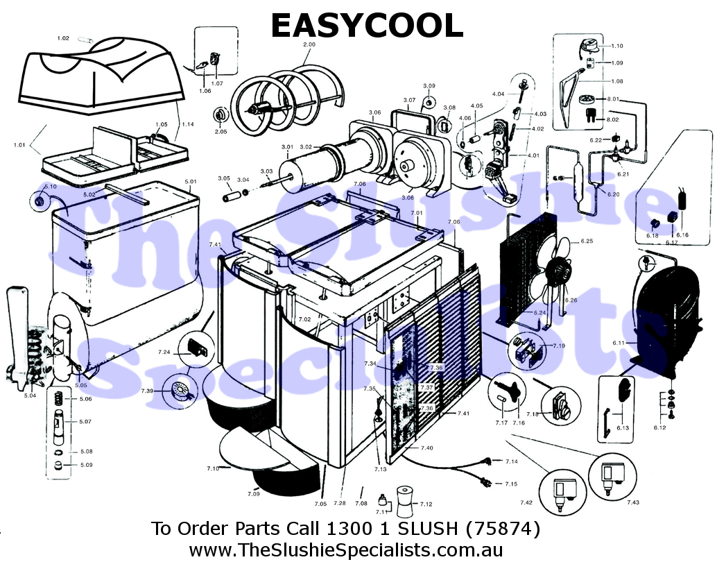 ASC Easycool Exploded Parts View