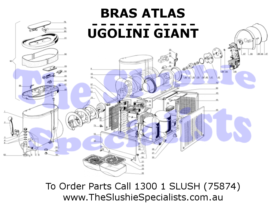 BRAS Giant 2 Exploded Parts View