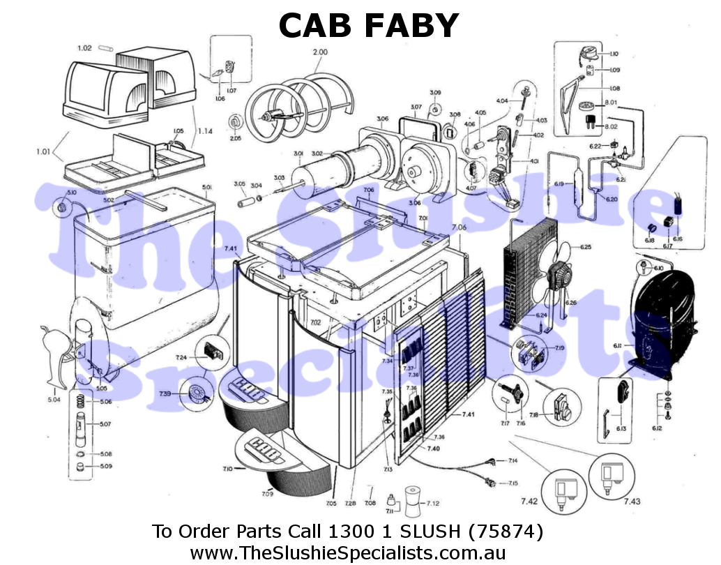 CAB Faby Exploded Parts View