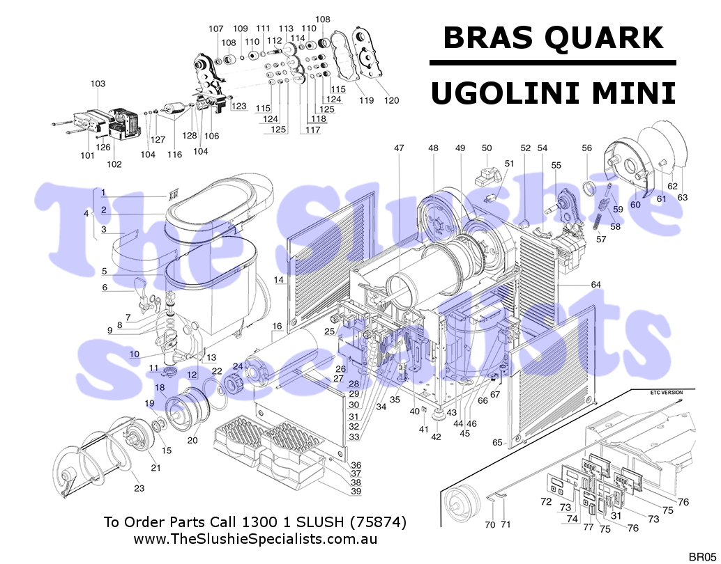 BRAS Quark / Ugolini Mini Exploded Parts View