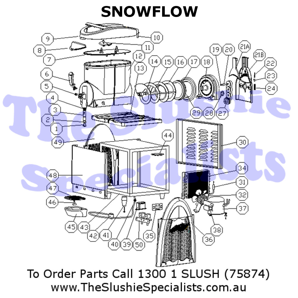 SnowFlow Exploded Parts View